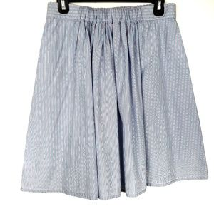 J. Crew vertical striped pleated pockets skirt